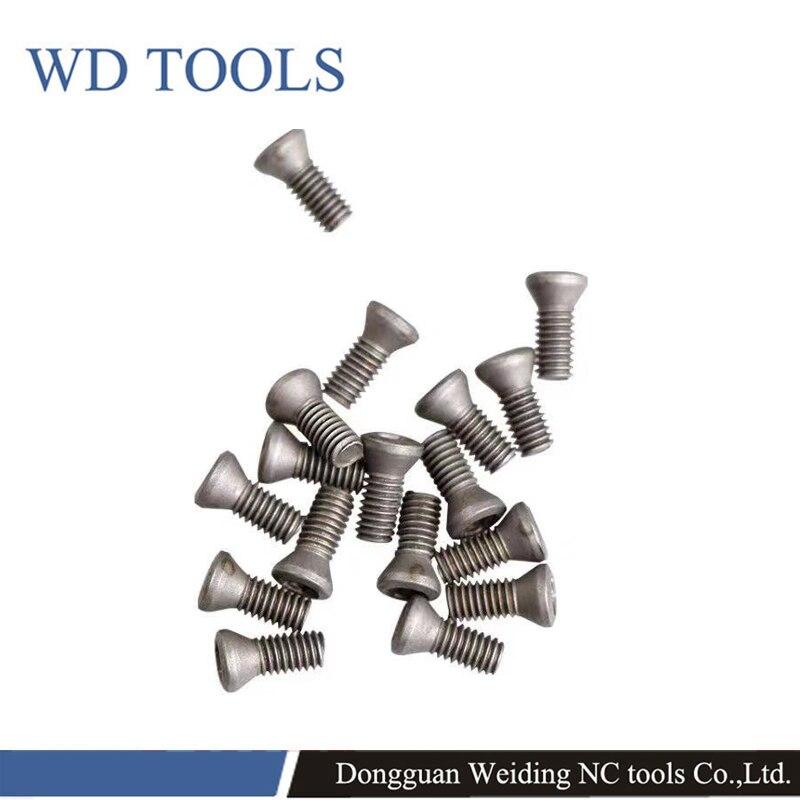 100 Uds., tornillo de ciruela CNC, torno de herramienta, tornillo Trox de grado 12,9 M1.8/M2/M2.2/M2.5/M3/M3.5, tornillos negros chapados en níquel KM