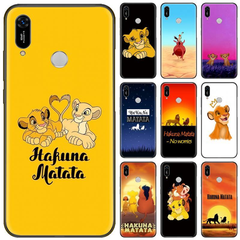 King Lion Pattern Coque Shell Phone Case For Huawei Y5 Y6 II Y7 Y9 PRIME 2018 2019 NOVA3E P20 PRO P10 Honor 10