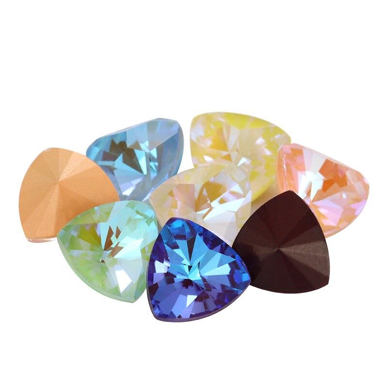 Strass de Fluorescence Mocha   Accessoires dartisanat à la main, strass de Fluorescence sur les strass, cristaux amples à larrière, pierres fantaisie