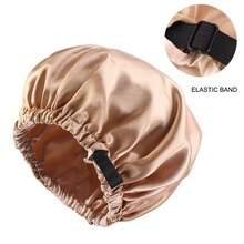 New Satin Hair Cap For Sleeping Invisible Flat Imitation Silk Round Haircare Women Headwear Ceremony