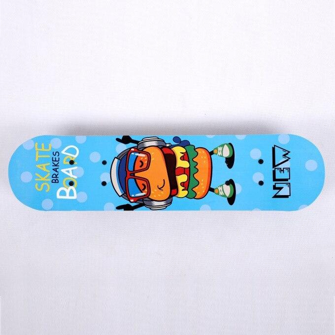 Детский Кленовый Скейтборд, 4 колеса, доска для серфинга, скейтборд для начинающих, скейтборд с двойным рокером, Уличный Скейтборд, аксессуа...