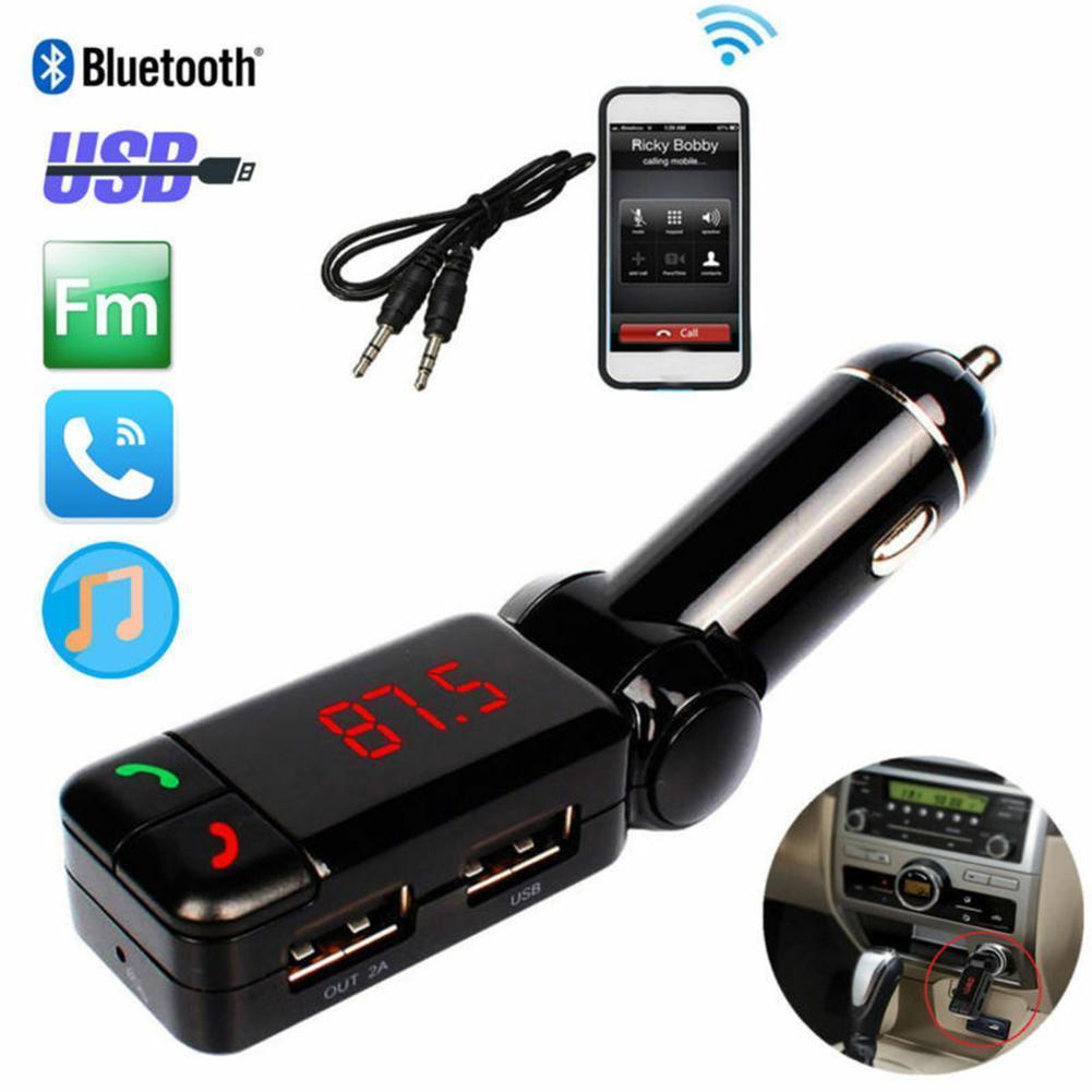 FM-Трансмиттеры, Bluetooth, автомобильный комплект, FM-трансмиттер, дисплей громкой связи, двойной USB, светодиодный mp3-модулятор, Aux-плеер, зарядное ...