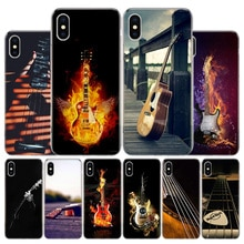 Cordas para guitarra com baixo, instrumento de guitarra para apple iphone 11 pro x xr xs max 7 8 6 6 s plus 5 se 7g 6g + capa artística