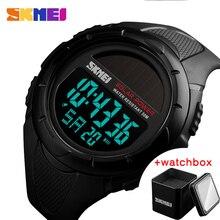 SKMEI hommes montres Sport numérique lumineux hommes montres-bracelets solaire pour lénergie environnement alarme mâle horloge Reloj Hombre 1405