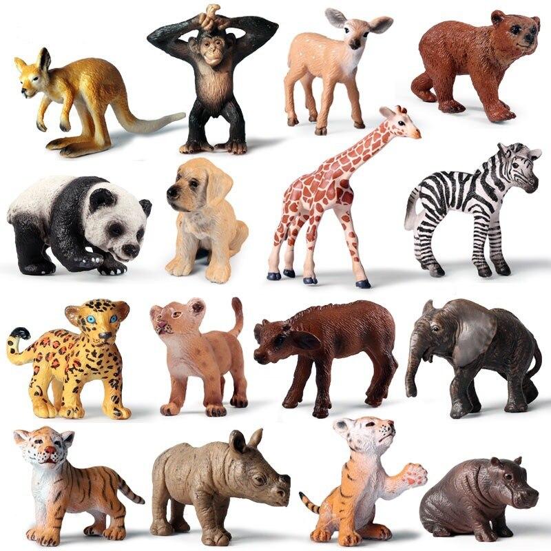 1Pcs Mini Wilden Zoo Farm Afrikanische Savanne Landschaftssegeltuch-wand-kunst-afrikanische Lion Tier König Vogel Serie Leopard Katze Panther Jaguar Modell spielzeug für chidlren Kinder Geschenk