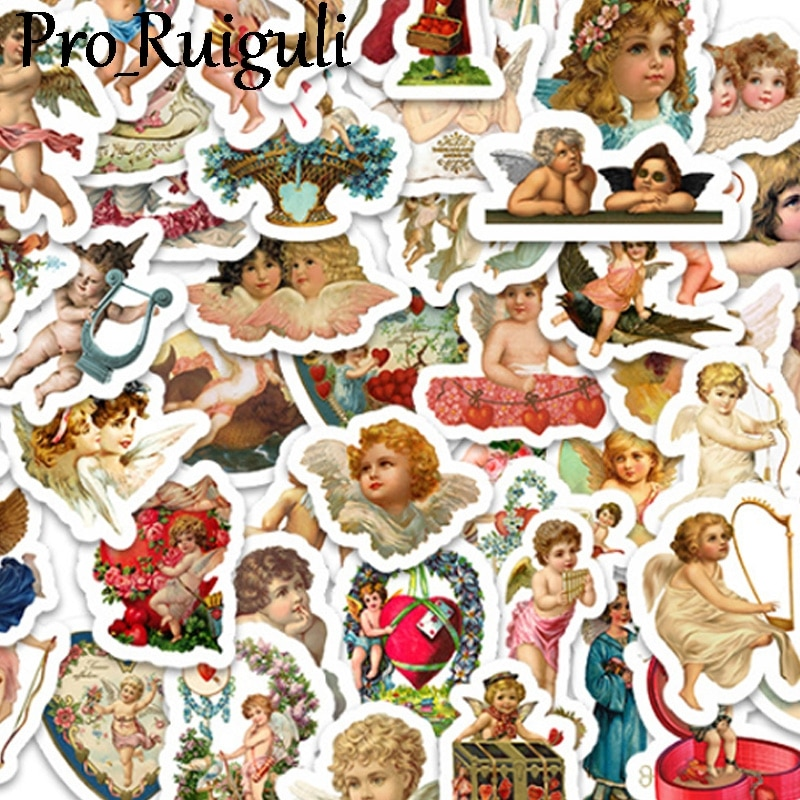 50pcs Cupid cartoon love Stickers paster Cartoon characters anime decals scrapbooking phone laptop waterproof decoration gifts