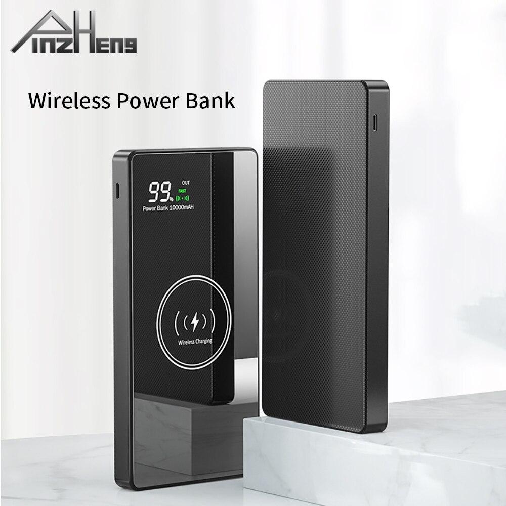 PINZHENG 20000mAh بنك الطاقة اللاسلكية للهاتف شاومي Powerbank الخارجية بطارية احتياطية بطاريات خارجية شاحن محمول LED