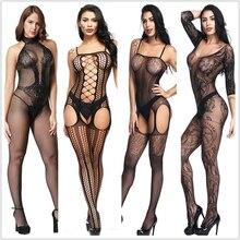 Lingerie Sexy Teddies body lingerie érotique chaude entrejambe ouverte élasticité maille corps bas porno sexy sous-vêtements costumes