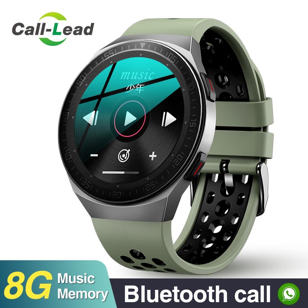 M-t3 مكالمة موسيقية ذكية مستديرة ip67water ساعة ذكية مشغل موسيقى ساعة جهاز تعقب للياقة البدنية تسجيل الرجال النساء الرياضة ساعة ذكية