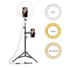 "10 ""Led Ring Licht Fotografische Selfie Ring Verlichting Met Stand Voor Smartphone Youtube Make Video Studio Statief Ring Licht"