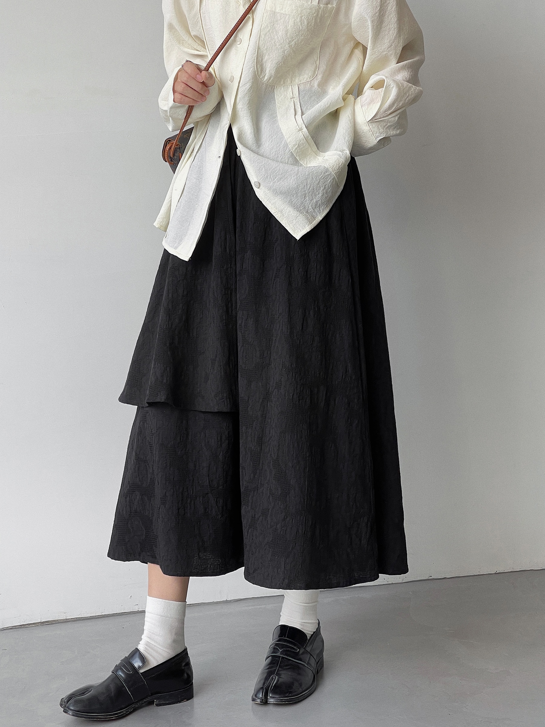 Cotton Two-layer Skirt for Women in Early Autumn 2021