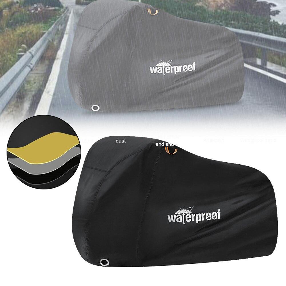 Чехол для наружного велосипеда мотоцикла, водонепроницаемая защита от УФ лучей, сверхпрочная ткань 210T с отверстием для замка для MTBs, дорожн...