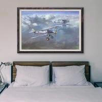 T069     peinture classique retro avec 19 operations de vol davion de guerre  affiche en soie personnalisee  decoration murale  cadeau de noel