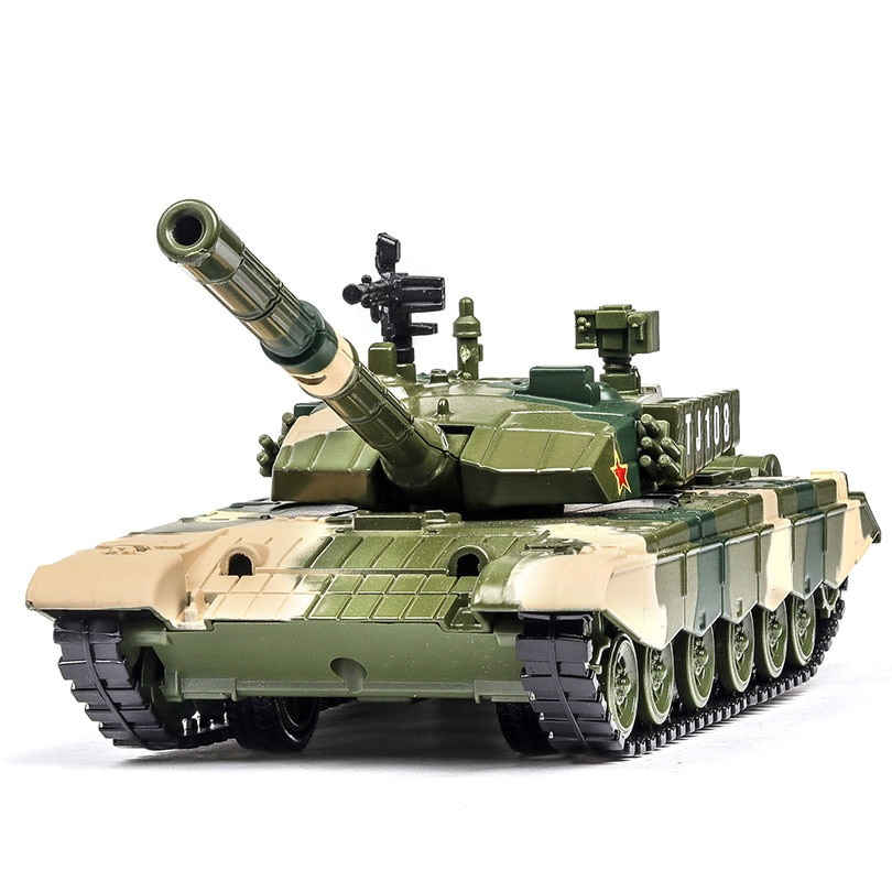 Type ZTZ-99 Main Battle Model 1/32 Simulation Alloy Metal Tank Military Model Pull Back With Sound Light Childrens Toy Kids Gift