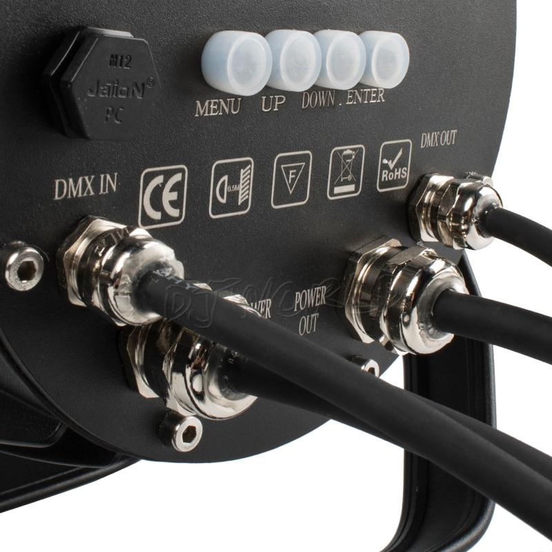 IP65 Водонепроницаемый Освещение LED Par 7x18W RGBWA UV DMX512 Контроллер Рождество На открытом воздухе Вечеринка DJ Dicos Park Stage Effect Lights