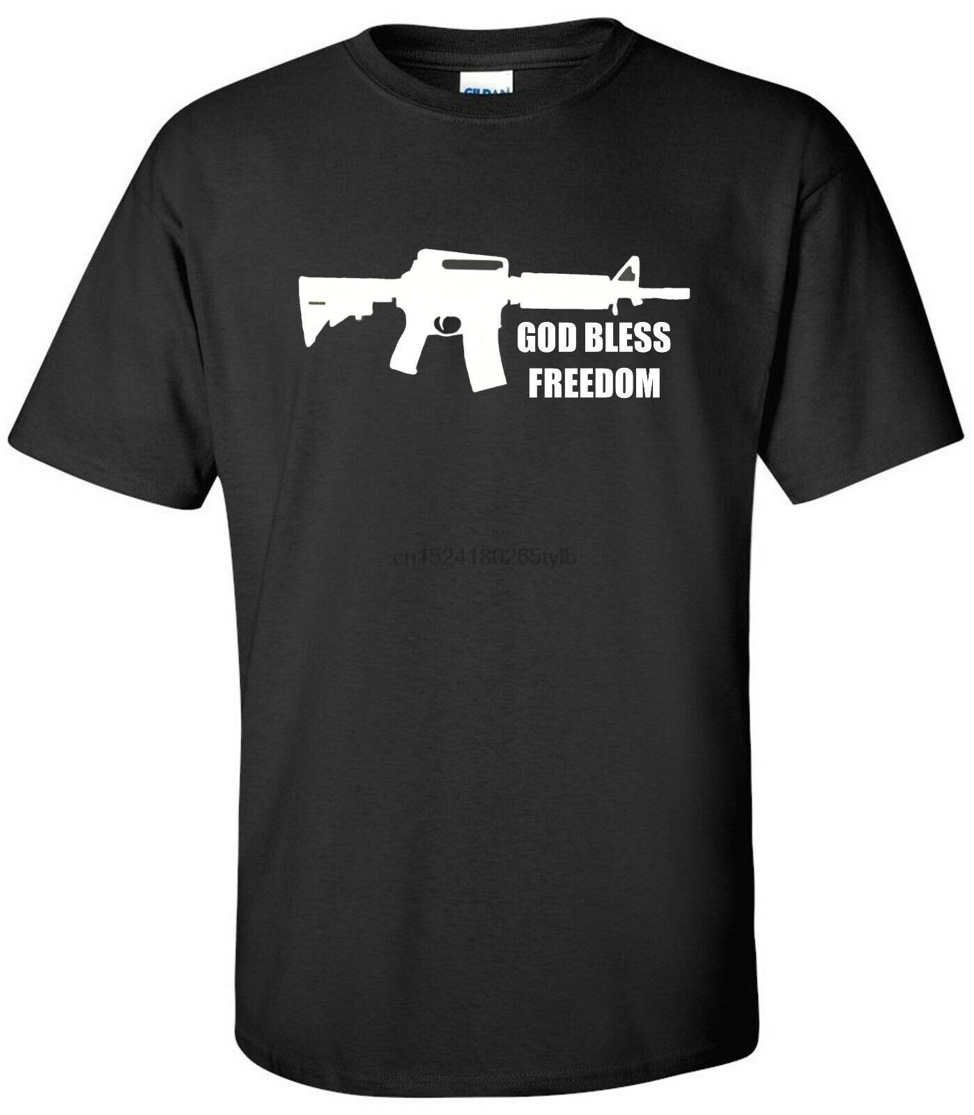2nd Segunda Enmienda camiseta Ar-15 Ar15 Pro pistola Dios bendiga la libertad camisa S-2XL