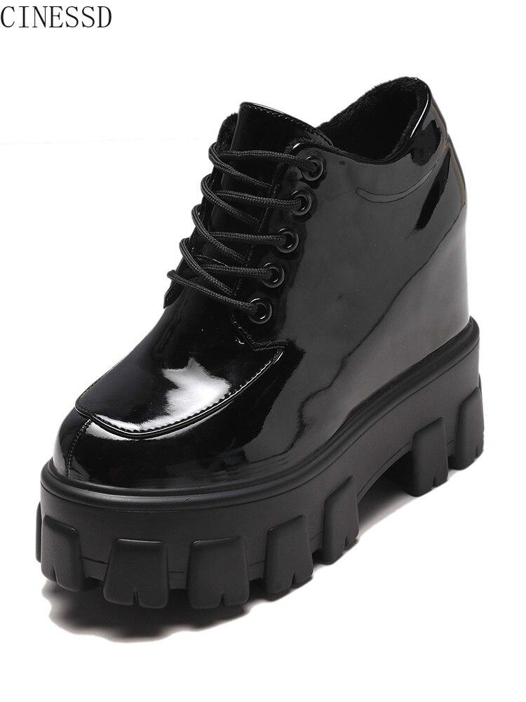 Женская обувь на высоком каблуке в европейском стиле 2019 г. Новая Осенняя кожаная обувь маленьких размеров женская обувь на толстой подошве ...
