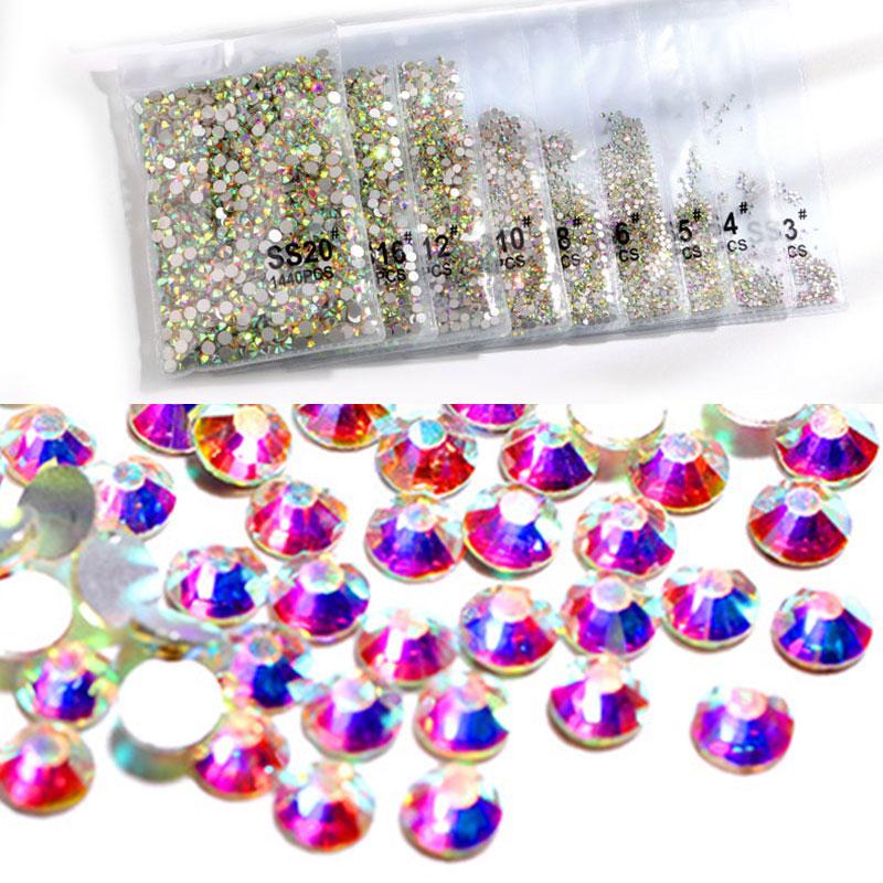 1440pcs/bag Nail Art Rhinestones Nail Decoration Beauty Crystal Diamond DIY Manicure 3D Glitter Fashion Manicure for Women