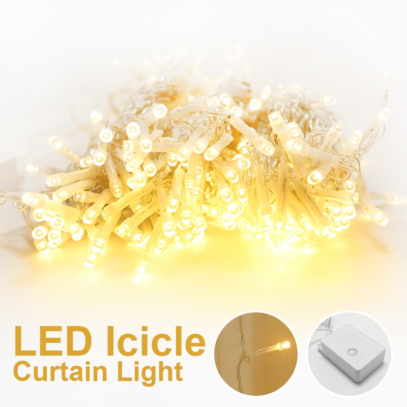 LED icicle string lights LED wedding fairy lights Christmas lighting garlands garden party curtain decoration holiday lighting