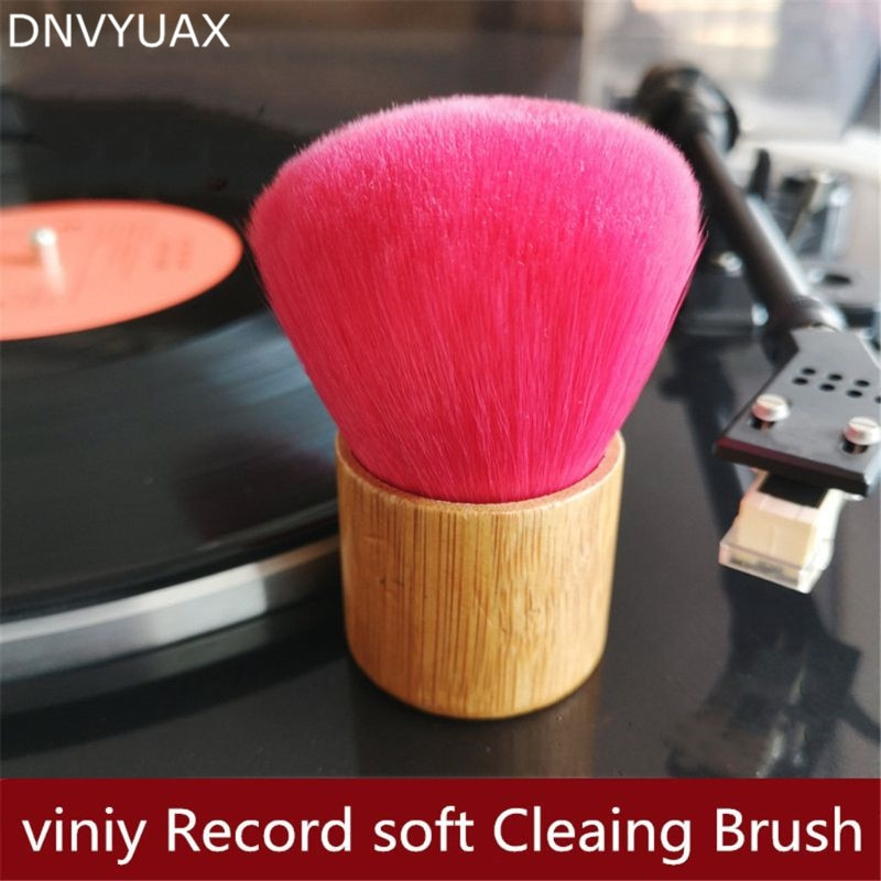spiral crocister 8 x 1 5 in vinyl sheath with a brush and a handle vinyl cleaning device vinyl braided helix vinyl braided helix 1PC Wooden Handle Cleaning Brush Soft Brush Cleaner for Vinyl LP Player Accessories