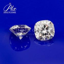 Mercado por atacado diamante 0.8ct 5x5mm coxim corte moissanite preço por quilates