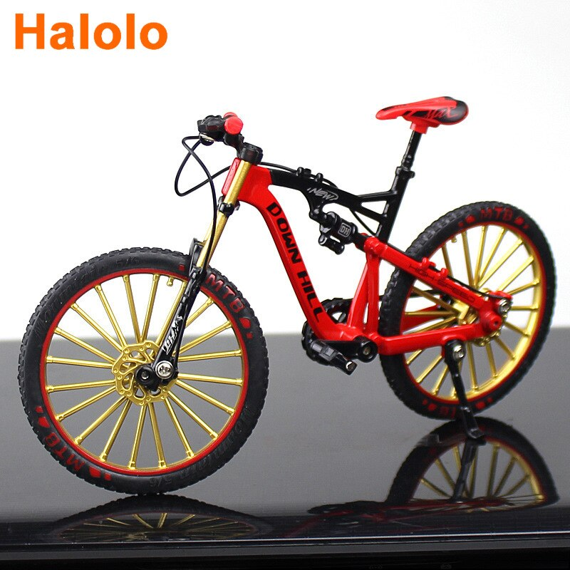Halolo mini 1:10 Alloy Model Bicycle Diecast Metal Finger Mountain bike Racing Simulation Adult Coll