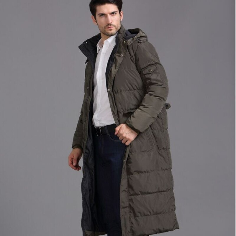 Chaqueta gruesa de invierno para hombre de 4XL, abrigo con capucha extra largo con zorro para hombre, parka con capucha, parka, mancuernilla de palma de la mano, abrigo de plumas