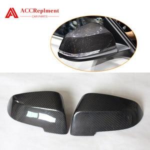 For BMW F20 F30 F32 F33 E84 Carbon Fiber Rearview Mirror Cover Cap 2012-2019