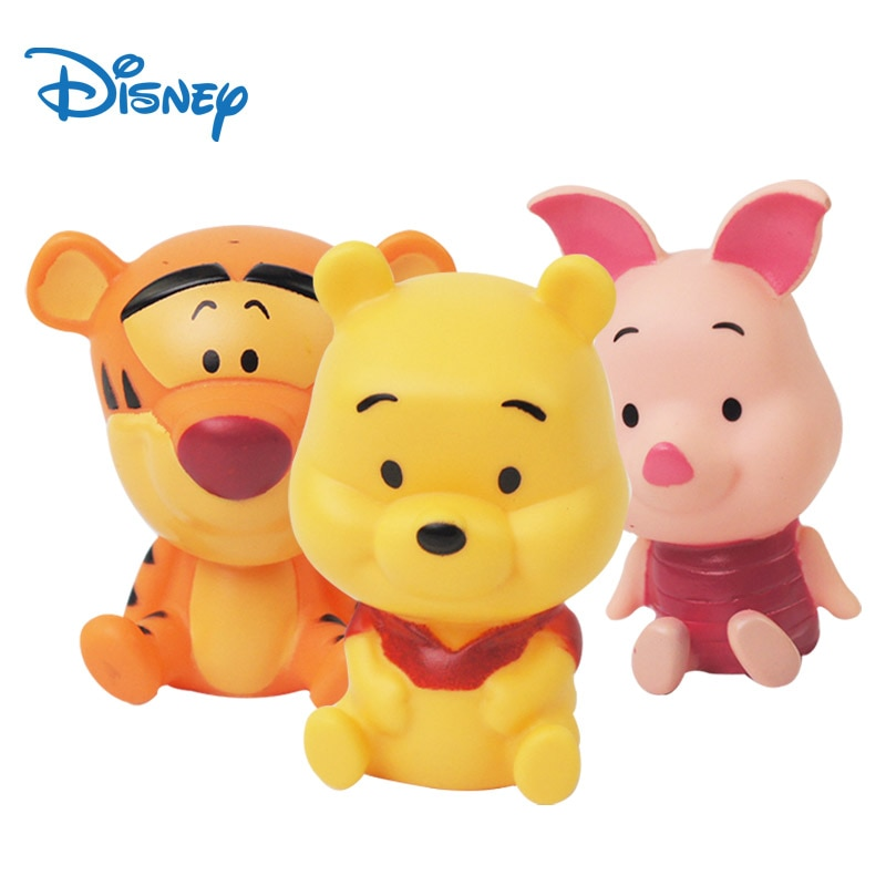 Disney Winnie The Pooh Bear Toys 3pcs For 3 Year Old 7.5cm Piglet Figure Tigger Anime Plushie Kawaii Stuff Cake Decorations
