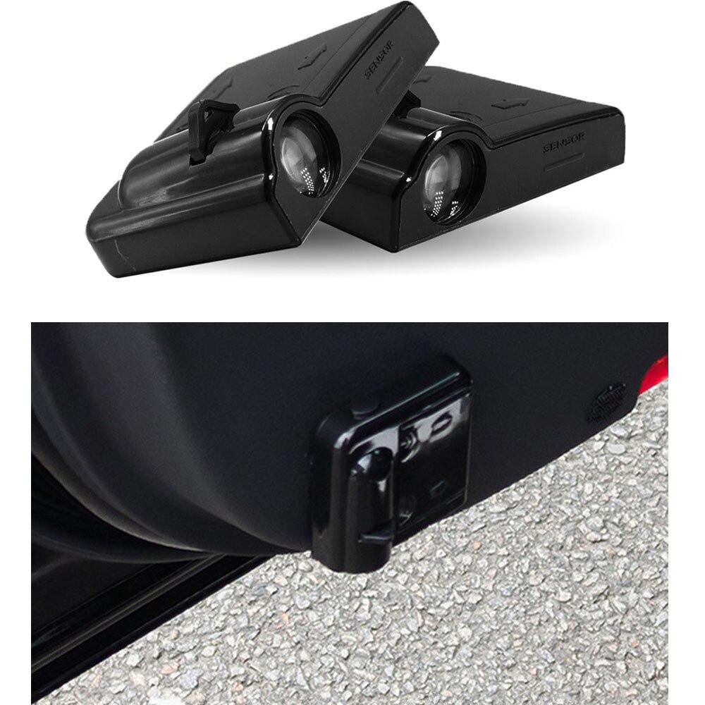 Para citroen c4 c5 c3 c2 berlingo picasso suprimentos do veículo 2pcs adesivos de porta do carro logotipo automático sem fio projetor luz lâmpadas led
