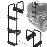 stainless steel metal black ladder stairs for 114 tamiya tractor truck rc car high quality parts upgrade accessories