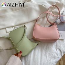 2021 Pleated Female Handbag Vintage Women Pure Color PU Shoulder Hobos Bag Casual Ladies Mini Handba