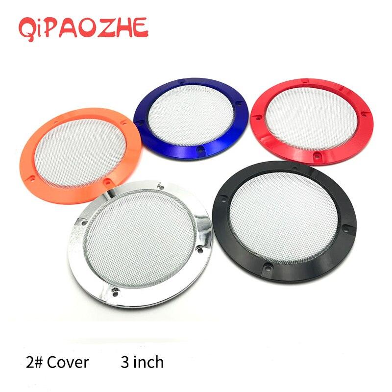 3 polegada colorido substituição redonda alto-falante malha de proteção rede capa grille círculo metal áudio alto-falante acessórios