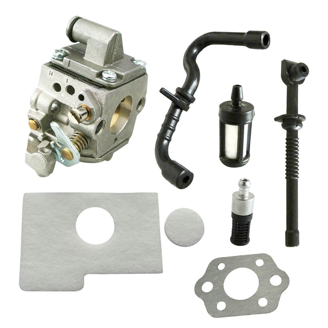 где купить Carburetor W/Gasket Air Filter Fuel Oil Filter Fuel Oil Pipe Spark Plug Kits For Stihl Chainsaw MS170 MS180 дешево