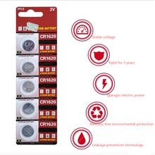 5pcs/lot CR1620 button battery 3V Watch Battery