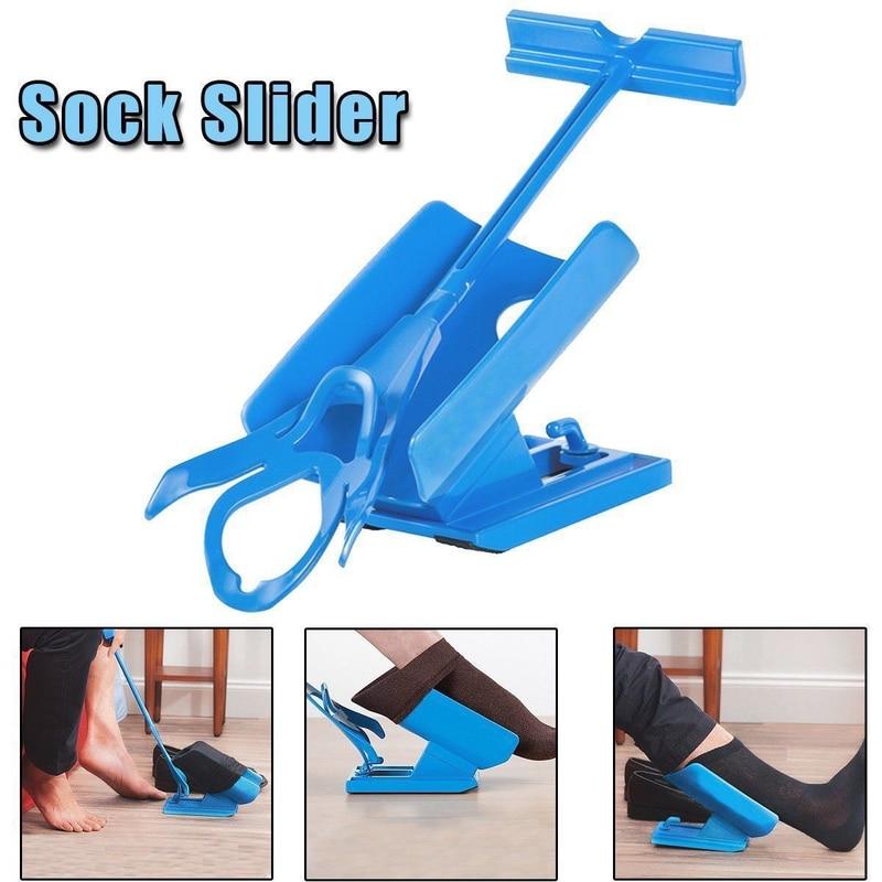 Lazy wear socks artifacts elderly pregnant women free bending auxiliary socks combination tool