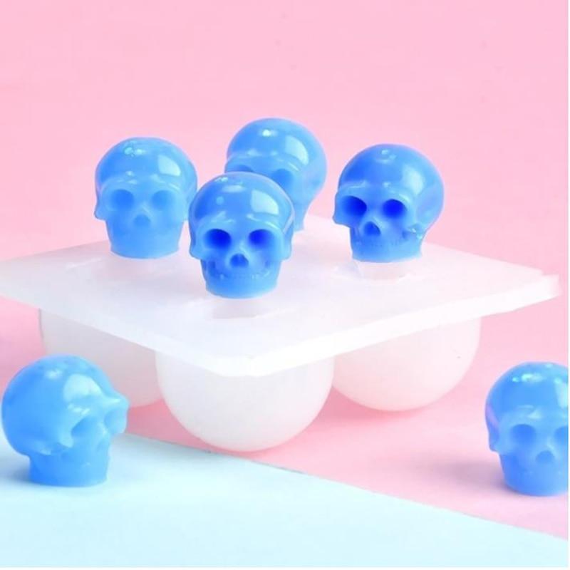 Форма силиконовая для украшений «сделай сам», отлив в виде черепа из эпоксидной смолы, для тематики Хэллоуина, дешево