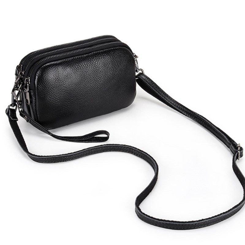 Fashion Simply Cow Leather Crossbody Bag For Women winter Solid Color Shoulder Messenger Bag Lady Chain Travel Small Handbag
