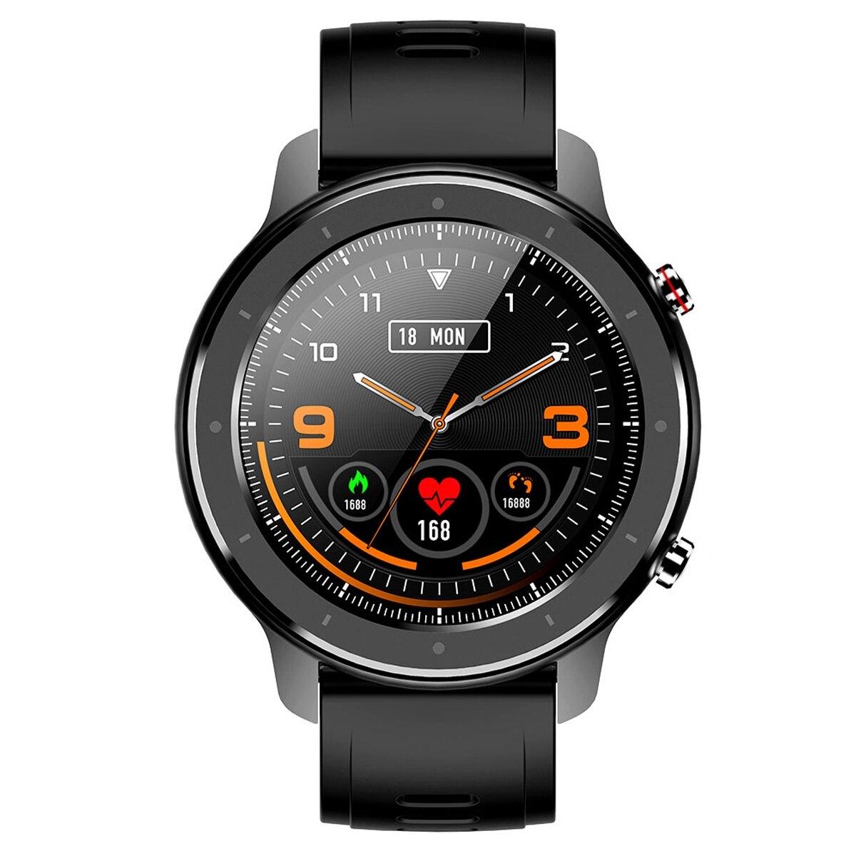 Reloj inteligente MOOL F12 de 1,3 pulgadas a prueba de agua IP68 para teléfono Android IOS Apple iPhone reloj inteligente negro