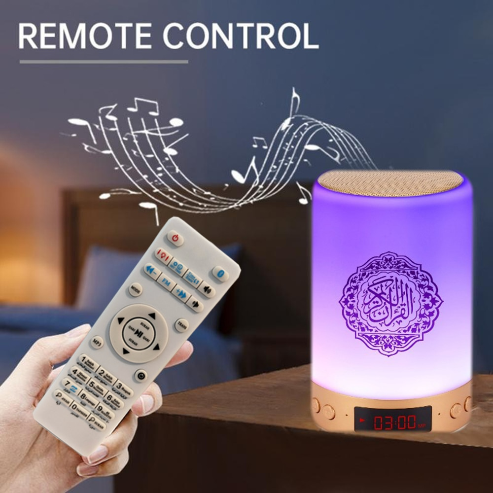 AZAN Islamic Quran Speaker Night light mp3 Coran Player Quran Speaker with 16G memory card veilleuse coranique