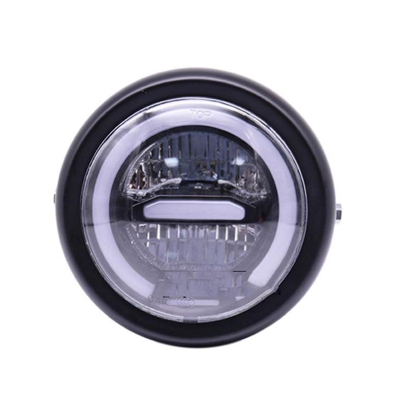 55W 6.5 Inch Universal Motorcycle Led Round Headlight Angel Eye Off-Road Driving Light LED head light lamp LED