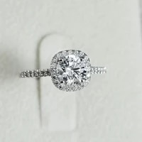 2021 new luxury cushion 925 sterling silver engagement ring or women lady anniversary gift jewelry wholesale christmas r5604