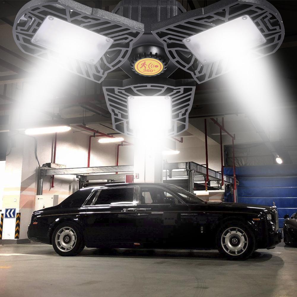 Ajustable E27/E26 80W UFO LED de alta Bahía lámpara de garaje 85-265V impermeable iluminación Industrial 8000LM para lámpara de almacén