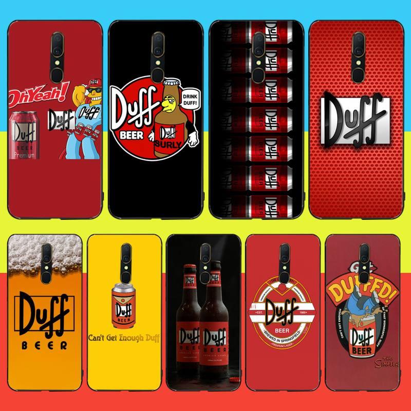 Funda de teléfono HPCHCJHM Love Duff Beer Logo personalizado foto suave para Oppo A5 A9 2020 Reno Z Realme5Pro R11