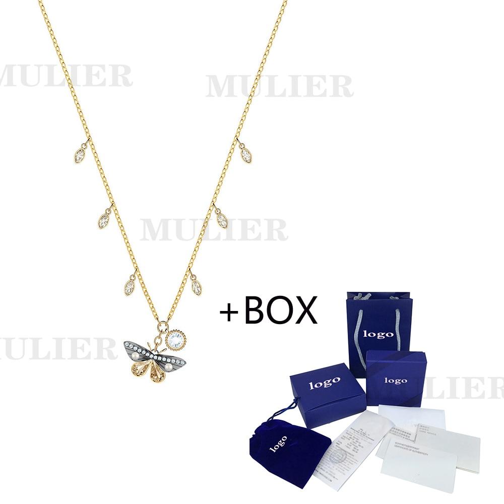 Nuevo collar magnético MULIER 19 SWA, mariposa de cristal brillante para mujer, Dale a tu novia la mejor opción, joyería para regalo de cumpleaños