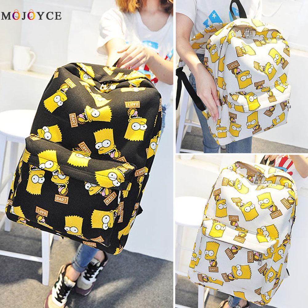 Mochila de grafiti Unisex para hombre y mujer, mochila de viaje de lona con estampado de dibujos animados, mochila escolar para chica, mochila, mochila de gran capacidad