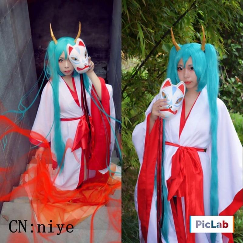 Peluca de Cosplay de alta calidad Hyakkiki VOCALOID, peluca de disfraz Hatsune Miku, pelucas de juego para Halloween, juego de Anime, peluca de Aguamarina de 150cm