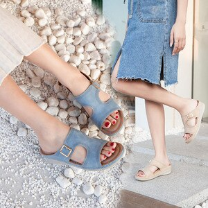 Women's Sandals Casual Retro Women Shoes Casual Flat Outdoor Ladies Wedges Shoes Woman Sandals Female Plus Size Female