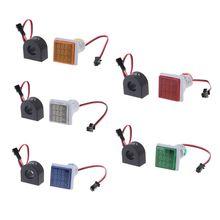 Signal lumineux AC 60-500V 0-100A 20-75Hz   Voltmètre à courant fréquence, panneau, carré Signal lumineux AC 60-V