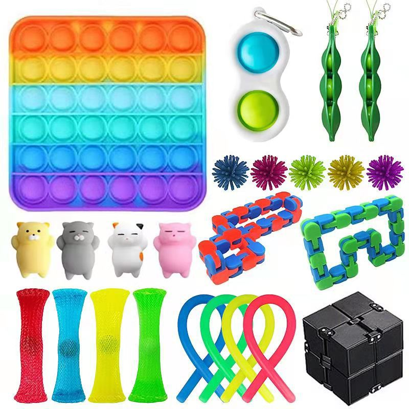 Fidget Toy Set Cheap Sensory Fidget Toys Pack for Kids or Adults Decompression Toy fidjets toys pack антистресс Hot enlarge